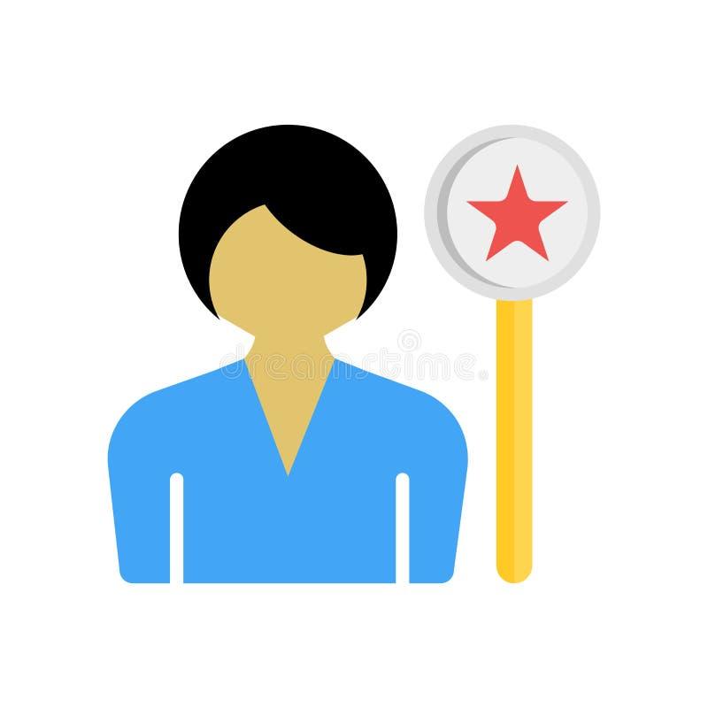 Segno e simbolo di vettore dell'icona del sostenitore isolati sul backgrou bianco royalty illustrazione gratis