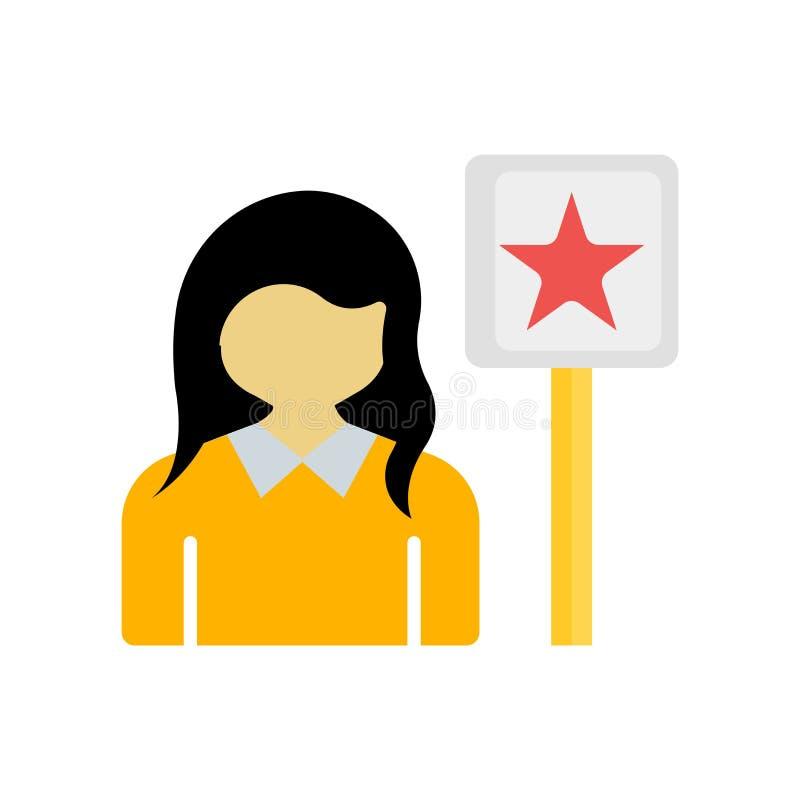 Segno e simbolo di vettore dell'icona del sostenitore isolati sul backgrou bianco illustrazione di stock