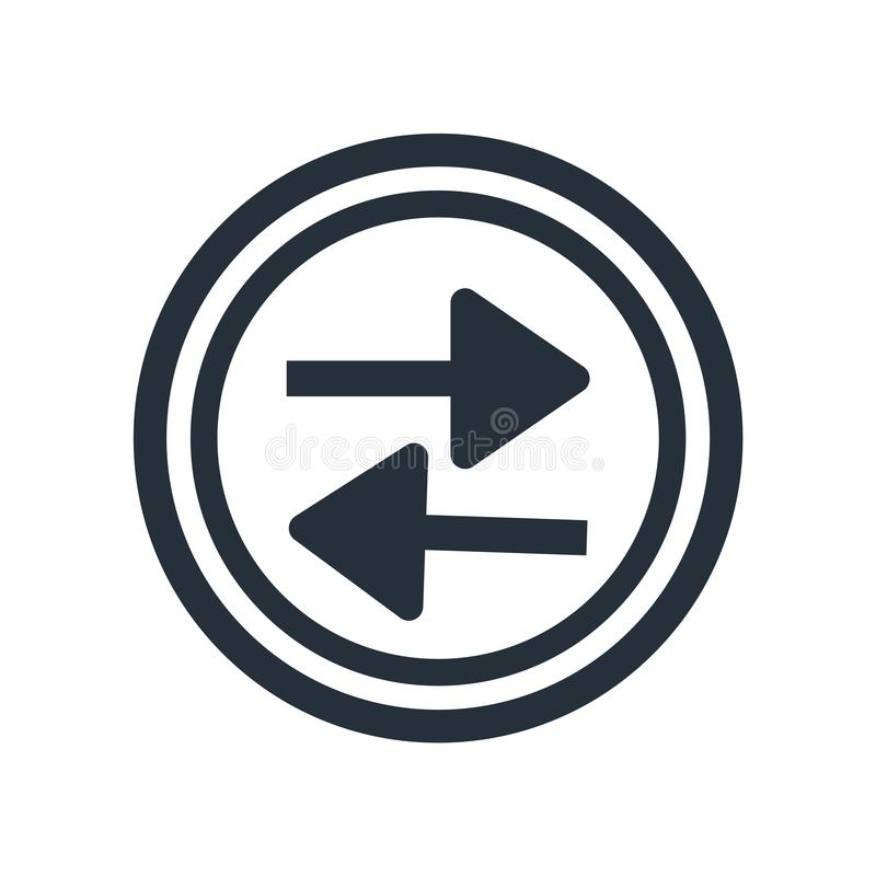 Segno e simbolo di vettore dell'icona del tasto di riproduzione della stampa isolati su fondo bianco, concetto di logo del tasto  illustrazione vettoriale