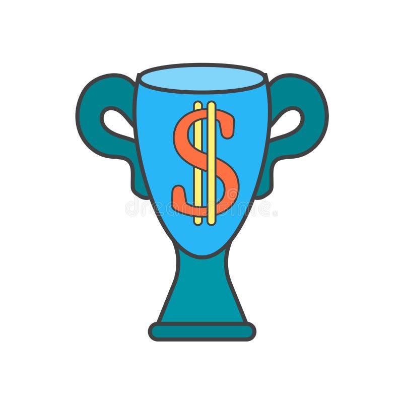Segno e simbolo di vettore dell'icona del trofeo isolati su fondo bianco, concetto di logo del trofeo royalty illustrazione gratis