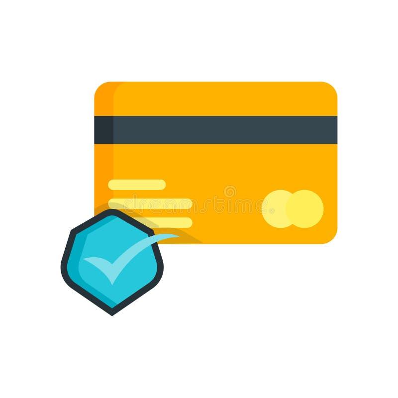 Segno e simbolo di vettore dell'icona della carta di credito isolati su backgr bianco illustrazione di stock