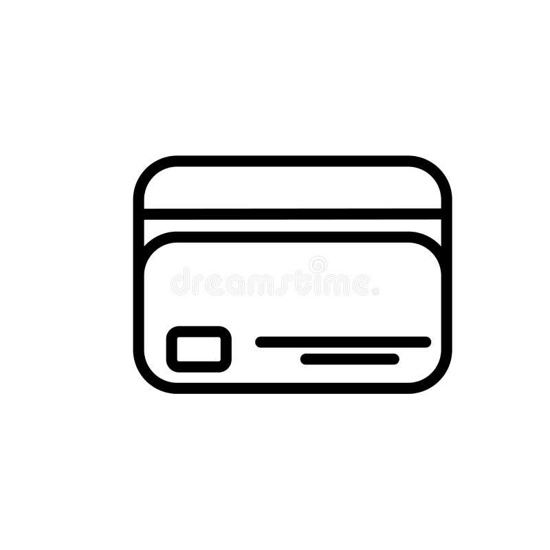 Segno e simbolo di vettore dell'icona della carta di credito isolati su fondo bianco, concetto di logo della carta di credito royalty illustrazione gratis