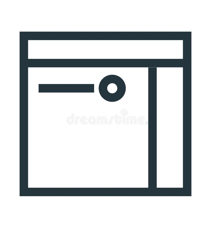Segno e simbolo di vettore dell'icona della carta di credito isolati su fondo bianco, concetto di logo della carta di credito illustrazione vettoriale