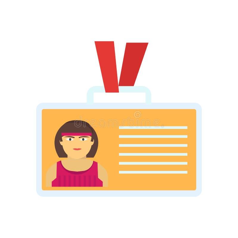 Segno e simbolo di vettore dell'icona della carta di identificazione isolati su fondo bianco, concetto di logo della carta di ide illustrazione di stock