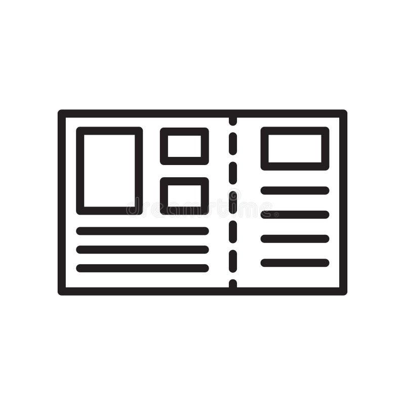 Segno e simbolo di vettore dell'icona della cartolina isolati su backgroun bianco royalty illustrazione gratis