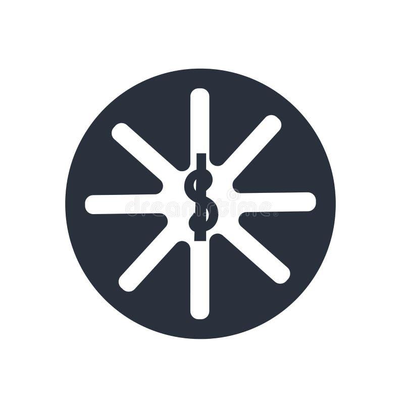 Segno e simbolo di vettore dell'icona di simbolo della farmacia isolati su fondo bianco, concetto di logo di simbolo della farmac illustrazione di stock
