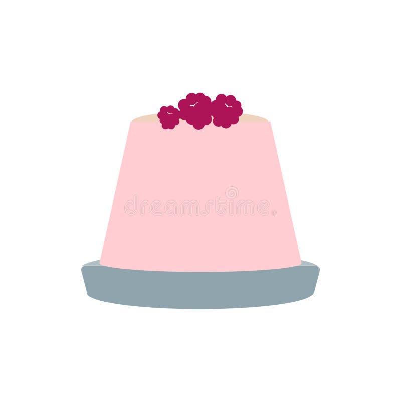 Segno e simbolo di vettore dell'icona della gelatina isolati su fondo bianco, concetto di logo della gelatina illustrazione di stock