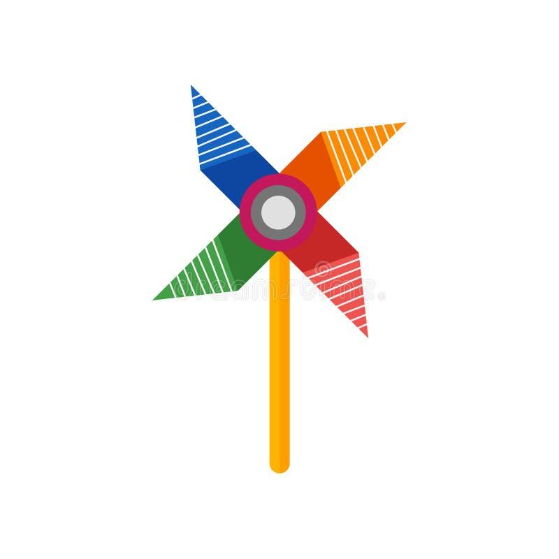 Segno e simbolo di vettore dell'icona della girandola isolati su backgroun bianco royalty illustrazione gratis