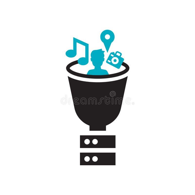Segno e simbolo di vettore dell'icona della raccolta di dati isolati su fondo bianco, concetto di logo della raccolta di dati illustrazione vettoriale