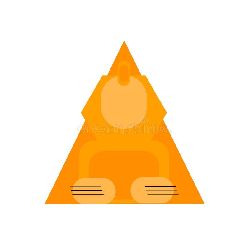 Segno e simbolo di vettore dell'icona della Sfinge isolati su fondo bianco illustrazione vettoriale