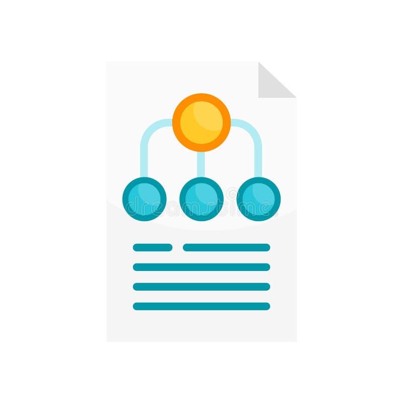 Segno e simbolo di vettore dell'icona della struttura di gerarchia isolati su briciolo illustrazione vettoriale