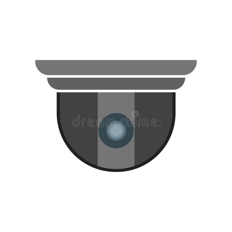 Segno e simbolo di vettore dell'icona della videocamera di sicurezza isolati su fondo bianco, concetto di logo della videocamera  illustrazione vettoriale