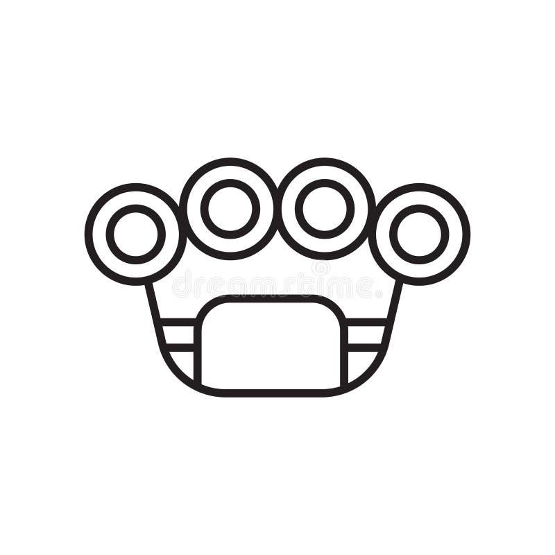Segno e simbolo di vettore dell'icona delle articolazioni d'ottone isolati sul BAC bianco royalty illustrazione gratis