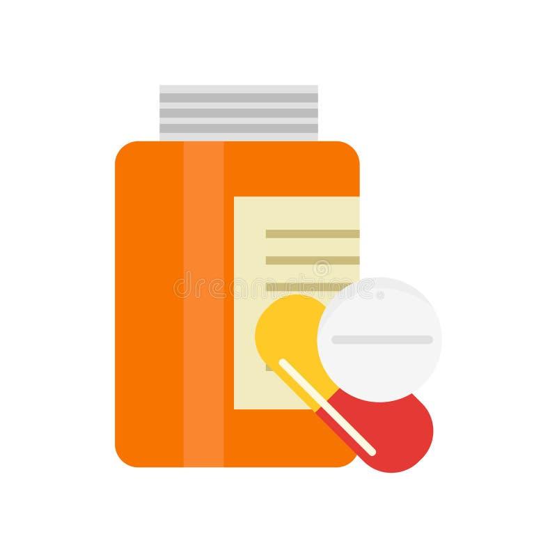 Segno e simbolo di vettore dell'icona delle droghe isolati su fondo bianco royalty illustrazione gratis