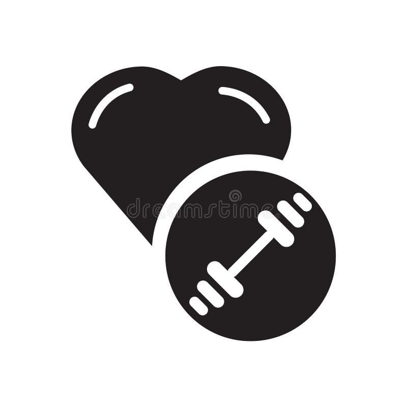 Segno e simbolo di vettore dell'icona di esercizio isolati su fondo bianco illustrazione di stock