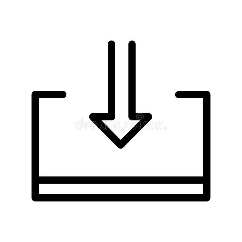 Segno e simbolo di vettore dell'icona dell'esportazione isolati su fondo bianco illustrazione vettoriale