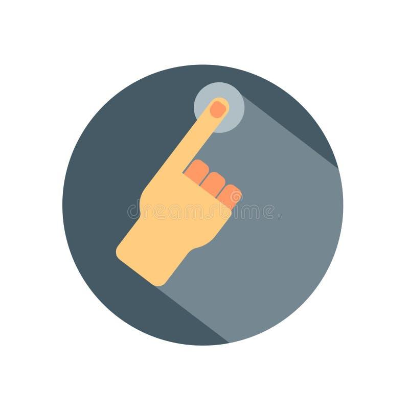 Segno e simbolo di vettore dell'icona di gesto di mano isolati su backg bianco royalty illustrazione gratis