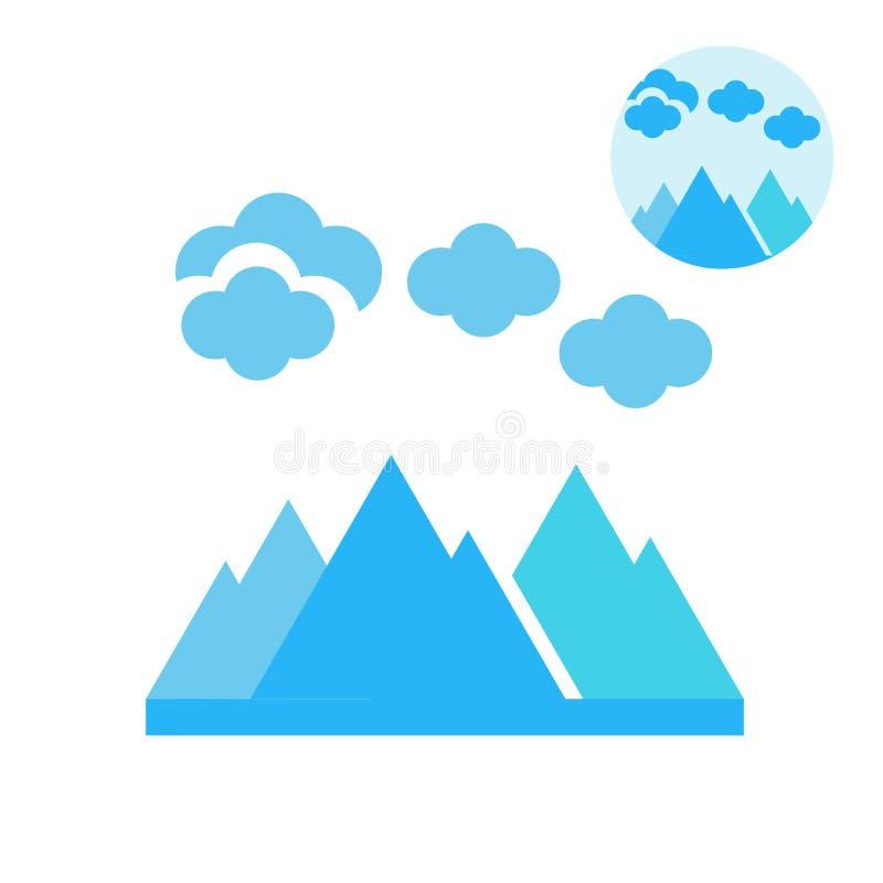 Segno e simbolo di vettore dell'icona dell'iceberg isolati su fondo bianco royalty illustrazione gratis