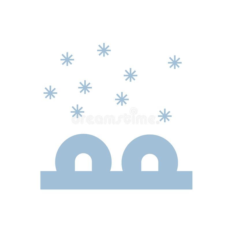 Segno e simbolo di vettore dell'icona dell'iglù isolati su fondo bianco illustrazione di stock