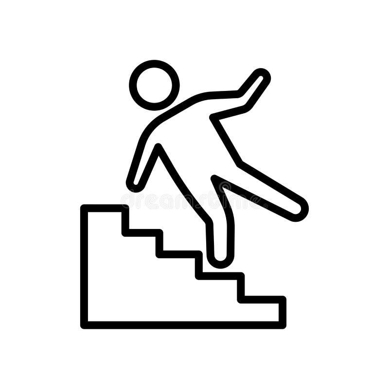 Segno e simbolo di vettore dell'icona di incidente isolati su backgroun bianco illustrazione di stock