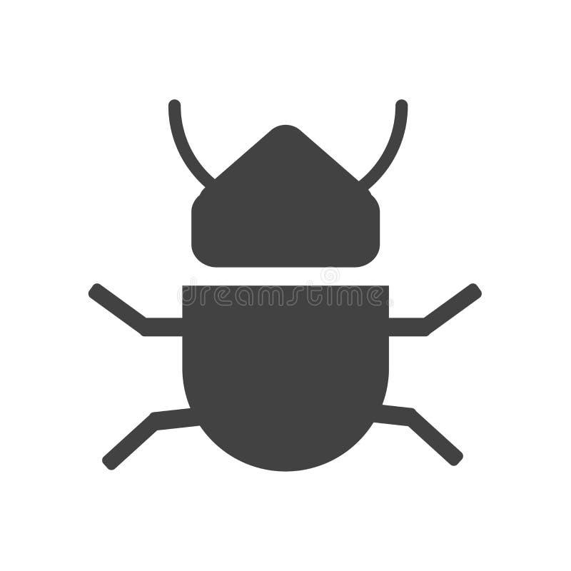 Segno e simbolo di vettore dell'icona dell'insetto isolati su fondo bianco, concetto di logo dell'insetto illustrazione vettoriale
