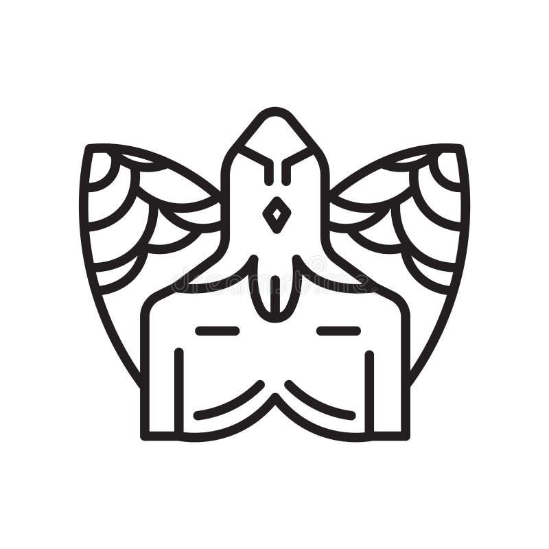 Segno e simbolo di vettore dell'icona di ippogrifo isolati sul backgro bianco royalty illustrazione gratis