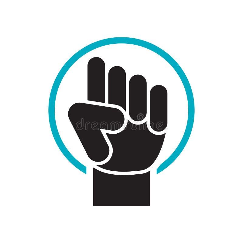 Segno e simbolo di vettore dell'icona di opposizione isolati su fondo bianco, concetto di logo di opposizione illustrazione vettoriale