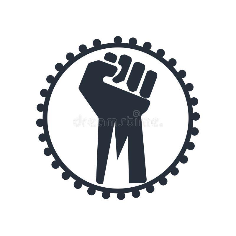 Segno e simbolo di vettore dell'icona di opposizione isolati su fondo bianco, concetto di logo di opposizione royalty illustrazione gratis
