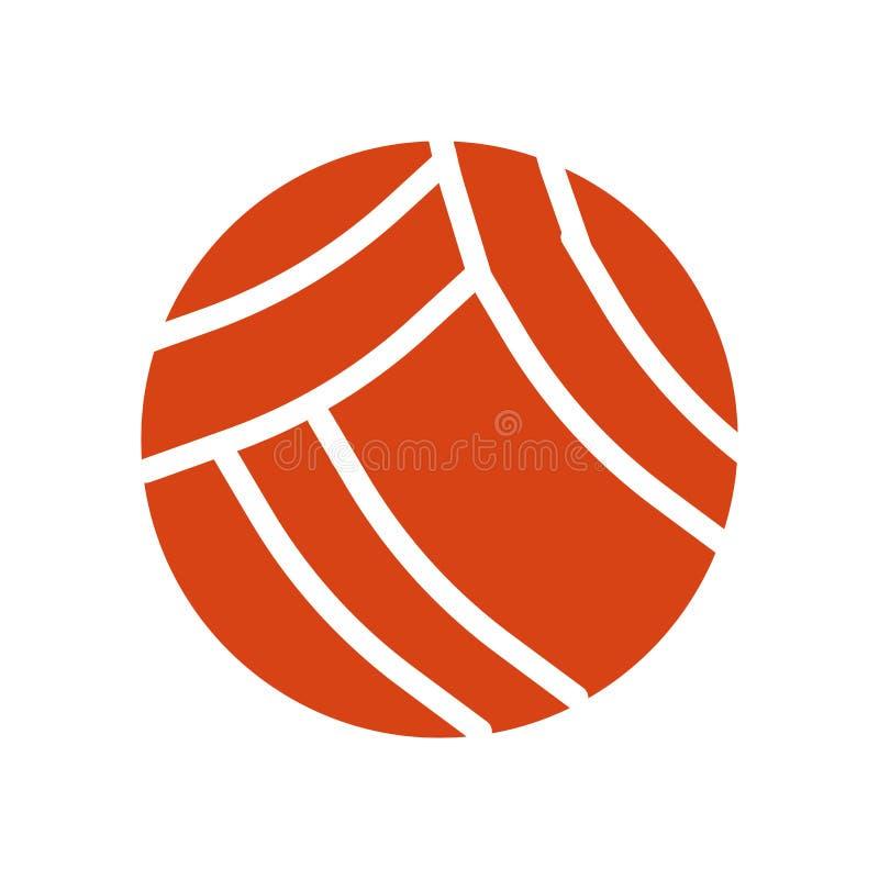 Segno e simbolo di vettore dell'icona di pallavolo isolati su fondo bianco, concetto di logo di pallavolo illustrazione di stock
