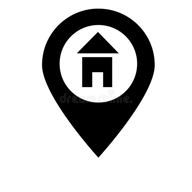 Segno e simbolo di vettore dell'icona di posizione isolati su fondo bianco, concetto di logo di posizione illustrazione di stock