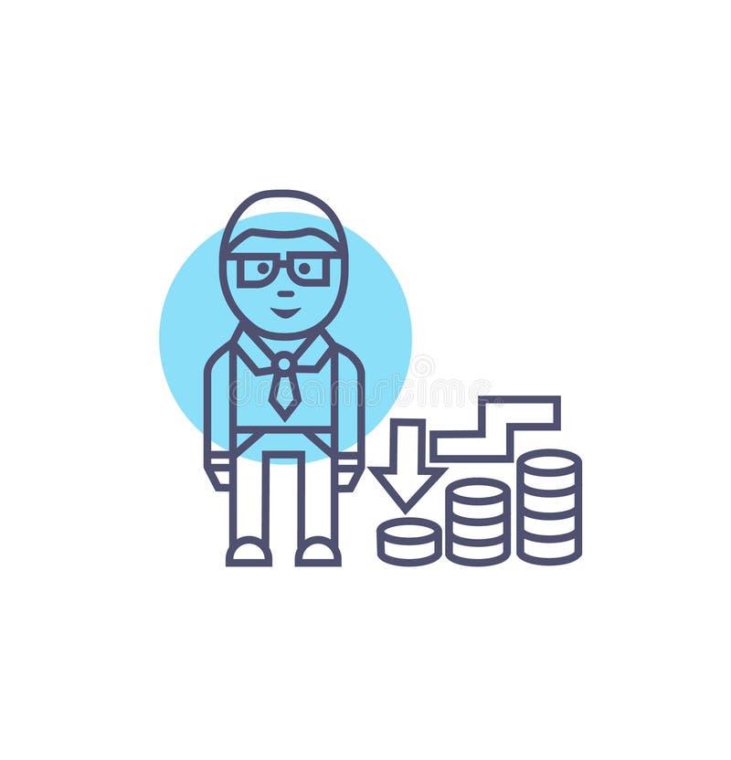 Segno e simbolo di vettore dell'icona di recessione Icona di affari royalty illustrazione gratis
