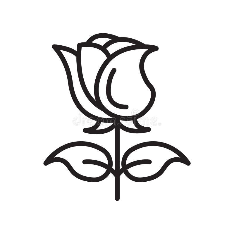 Segno e simbolo di vettore dell'icona di Rosa isolati su fondo bianco, R royalty illustrazione gratis