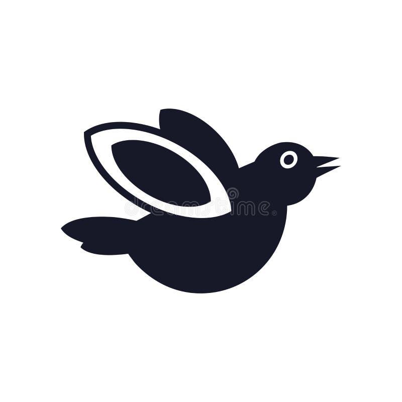 Segno e simbolo di vettore dell'icona dell'uccello isolati su fondo bianco, concetto di logo dell'uccello royalty illustrazione gratis