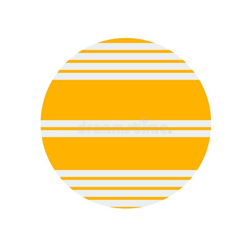 Segno e simbolo di vettore dell'icona di Venere isolati su fondo bianco, concetto di logo di Venere illustrazione vettoriale