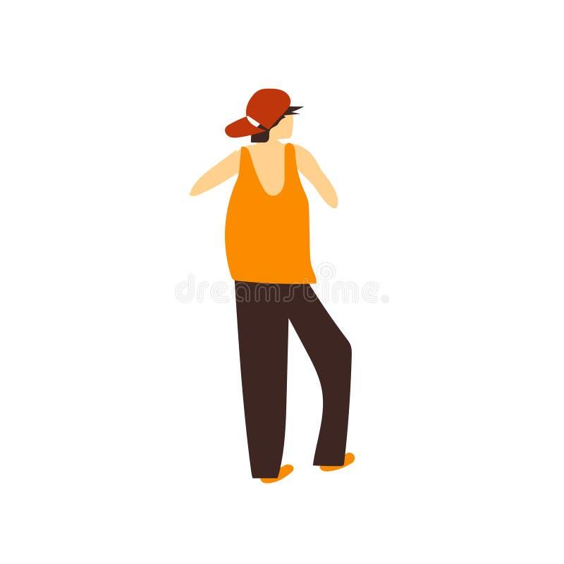 segno e simbolo di vettore di vettore dell'uomo del rapper isolati su fondo bianco, concetto di logo di vettore dell'uomo del rap royalty illustrazione gratis