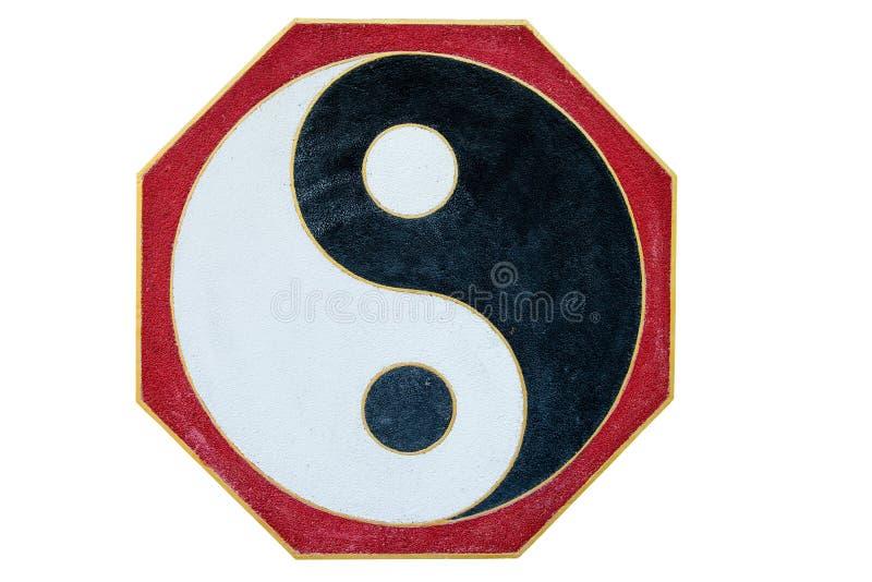 Segno e simbolo di Yin Yang di cinese fotografia stock libera da diritti