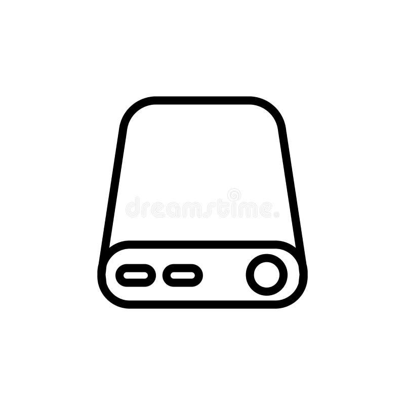 Segno esterno e simbolo di vettore dell'icona del disco rigido isolati su fondo bianco, concetto esterno di logo del disco rigido illustrazione vettoriale