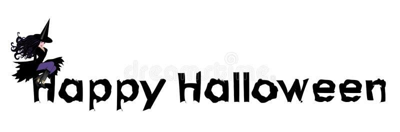 Segno felice 1 di Halloween illustrazione di stock