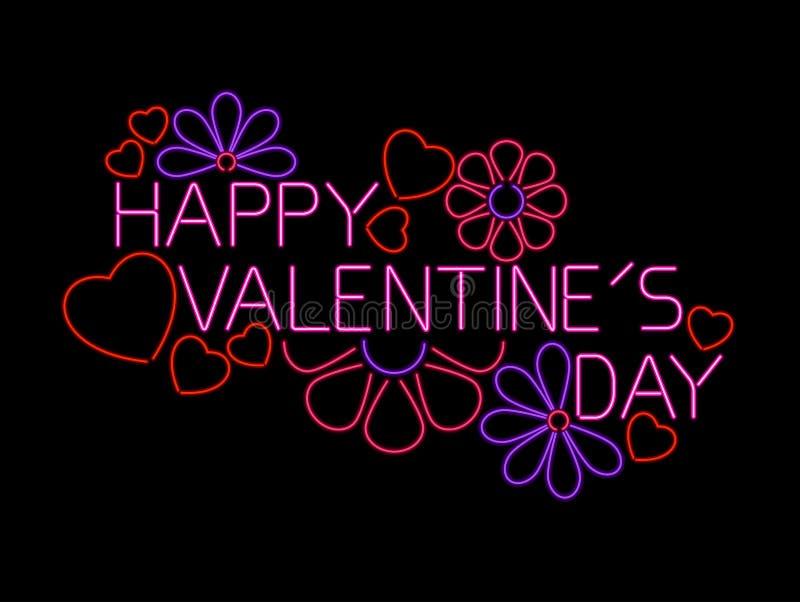 Segno felice di giorno dei biglietti di S. Valentino royalty illustrazione gratis