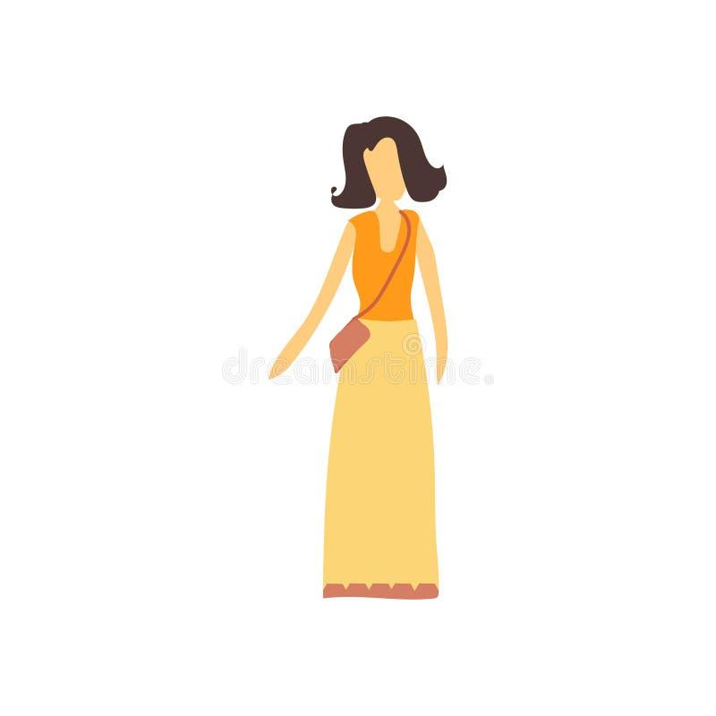 Segno femminile e simbolo di vettore di vettore del modello di modo isolati su fondo bianco, concetto di modello femminile di log illustrazione di stock