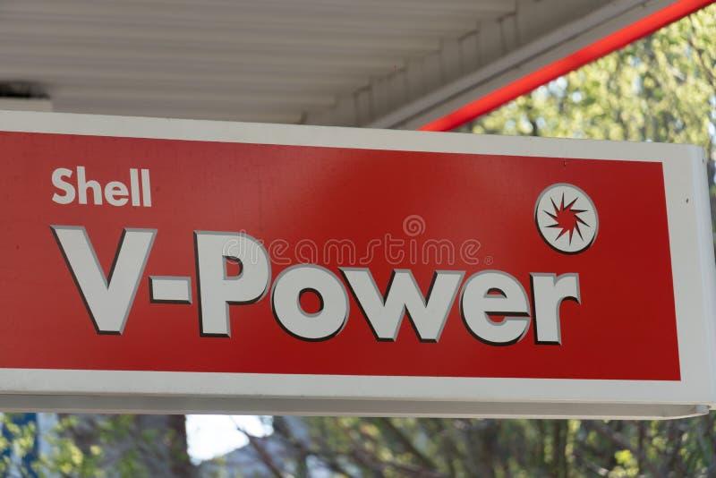 Segno forza v di Shell fotografia stock libera da diritti