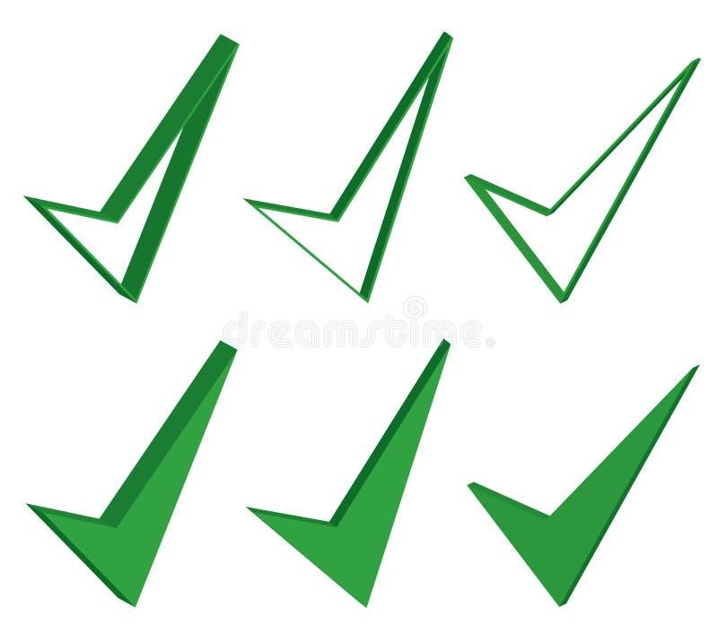 Segno giusto, buon, o approvato illustrazione di stock