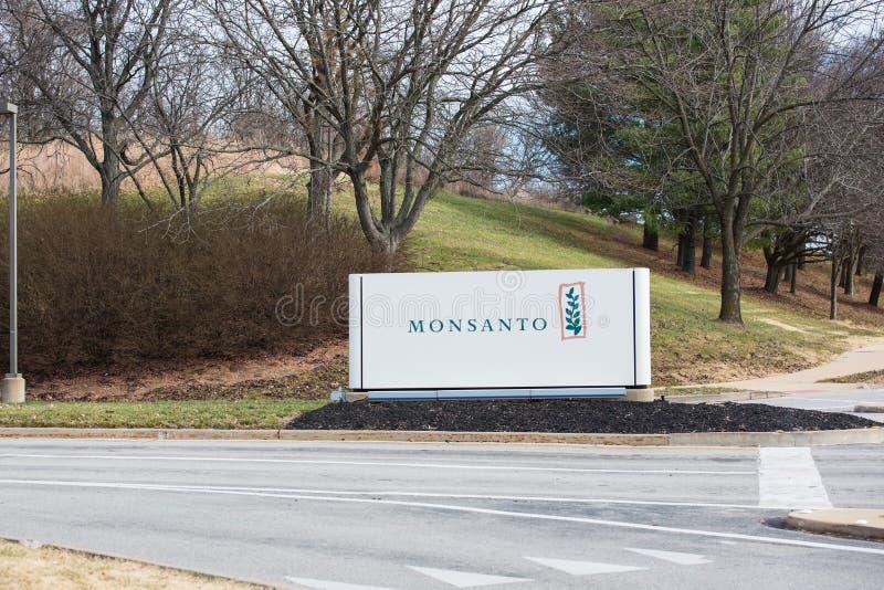 Segno globale delle sedi di Monsanto immagini stock libere da diritti