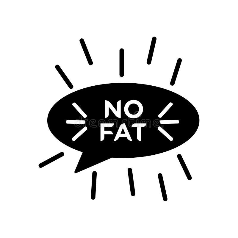 Segno grasso e simbolo di vettore dell'icona isolati su fondo bianco royalty illustrazione gratis