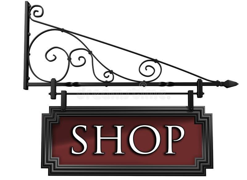 Segno isolato del negozio royalty illustrazione gratis