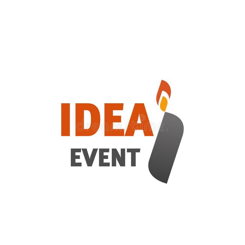 Segno l'icona con lettere di vettore per l'agenzia di evento di idea illustrazione di stock