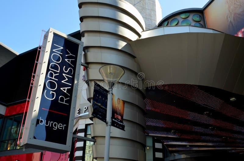 Segno Las Vegas del ristorante dell'hamburger di Gordon Ramsay fotografie stock