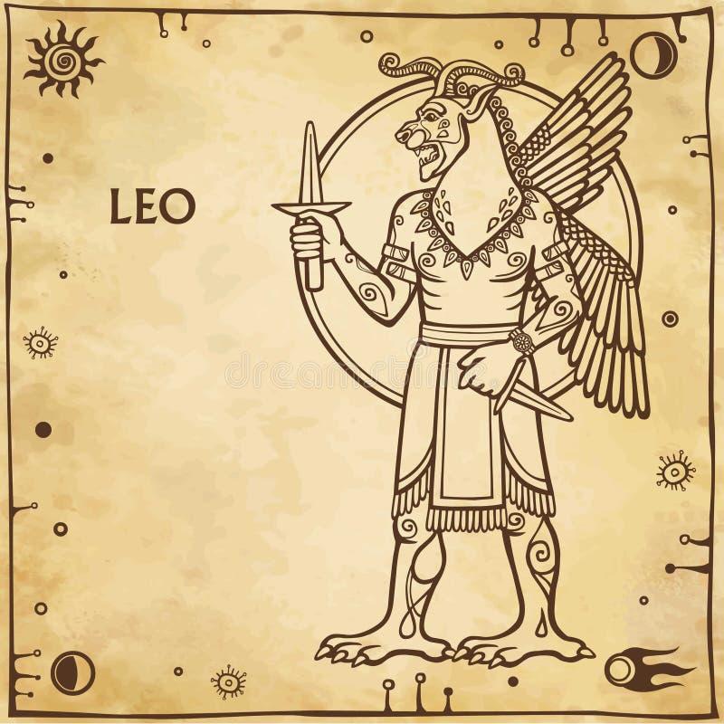 Segno Leo dello zodiaco royalty illustrazione gratis