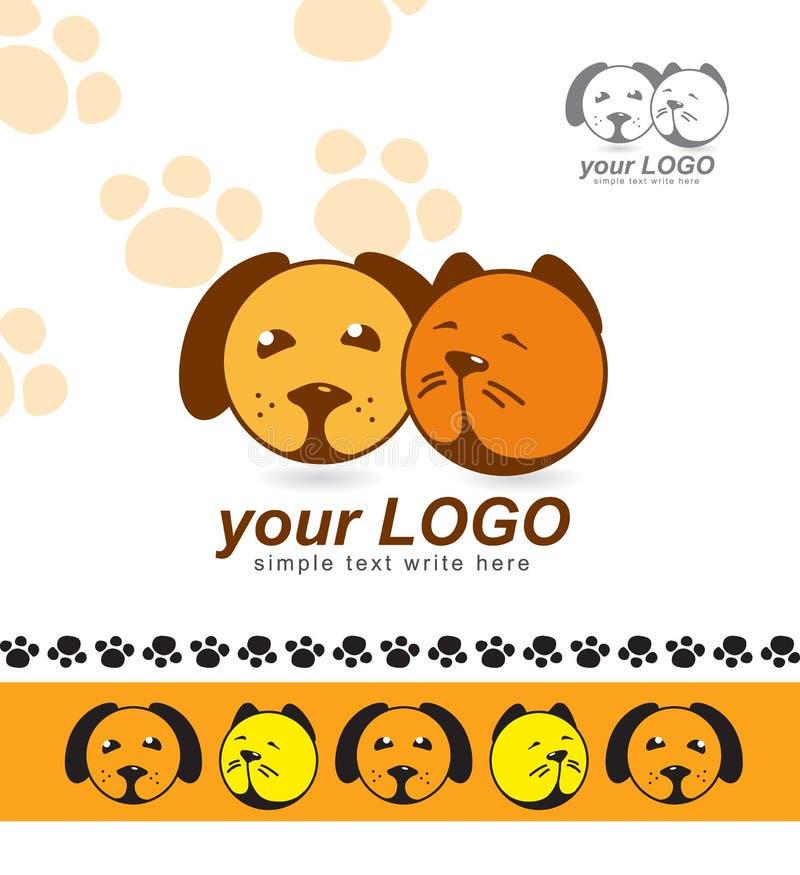 Segno, logo, animali domestici, avvocati per gli animali, riparo animale fotografie stock
