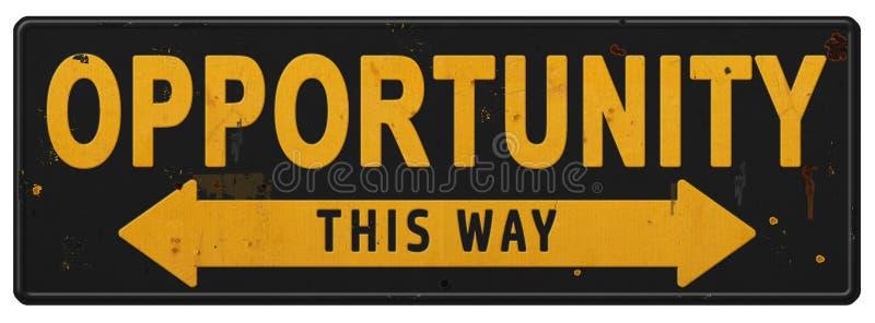 Segno Logo Art Business Possibilities Goal Accomlishment di opportunità immagine stock